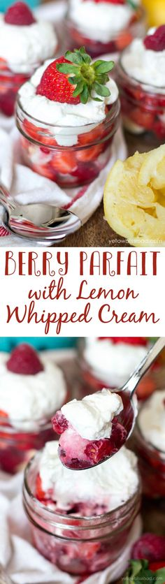 Berry Parfait with L