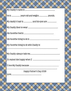 father's day free printable...