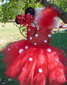 Minnie Mouse tutu, Minnie Mouse costume, Halloween costume