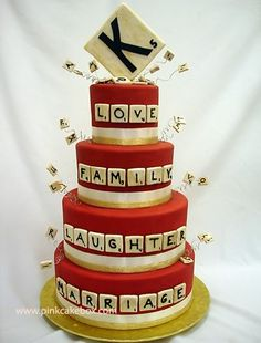 @Danielle Pellegrini  ..Scrabble Cake! Is it weird that I thought of you?