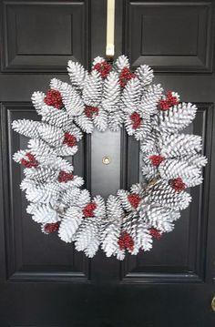 Winter Wreath, door decoration, DIY door decor, DIY home decor