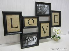 Simply Country Life: Burlap & Wood Love Frame Collage
