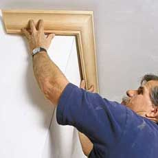 How to put in crown moulding