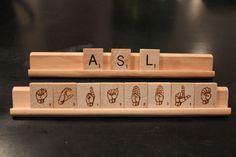 I WANT THESE! ASL-Scrabble-Tiles. $30.00, via Etsy.