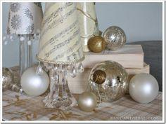 Sheet Music Paper Christmas Trees - easy & inexpensive table trees! #Christmas #DIY #MerryModPodge