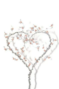 Heart Tree Sculpture Beaded Wire Art Topiary Tree by NouveauTique, $45.00