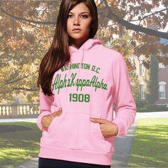 Alpha Kappa Alpha State and Date Printed Hoody $33.95 #Greek #Sorority #Clothing #AKA #AlphaKappaAlpha #Hoodie #Sweatshirt