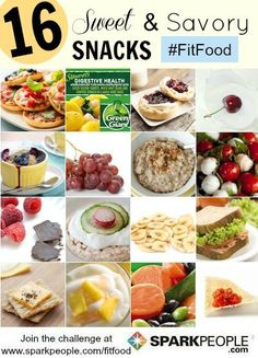Need better #healthy #snack ideas? Here are 16 of 'em! | via @SparkPeople #fitfood