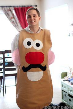 Easy DIY felt Mr. Potato Head costume #costume