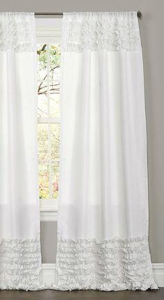 White Skye Curtain Panel