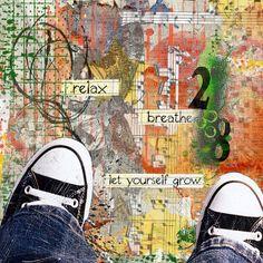 Art Journaling Pages - Let yourself grow - Scrap Art Studio Gallery