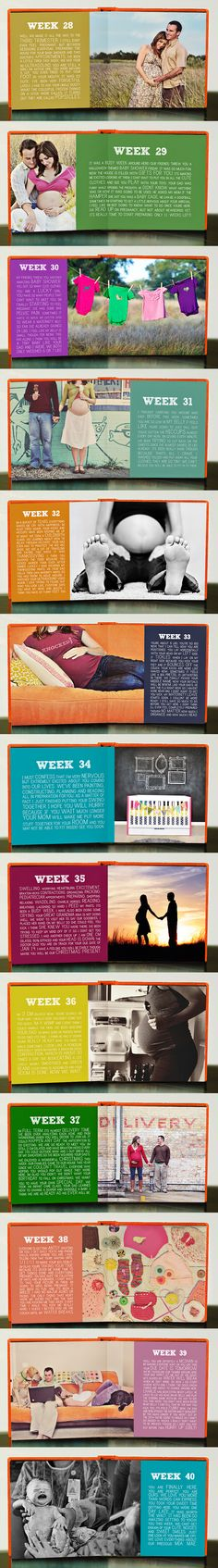 Week by week maternity photo book. Perhaps for future #2?