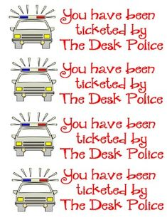 Police Desk Tickets