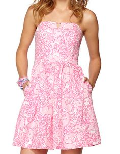 Lilly Pulitzer Richelle Strapless Tie Back Dress- love the pockets!