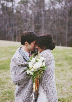Romantic fall weddin