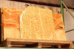 Mike McKee visited a honeycomb calcite mine in Utah. He'll be bringing back some of this beautiful rock, which is said to harvest the same energy as the sun. #sculpture #art #santafe #utah #geology #rocks #magic