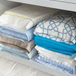 Store sheet sets inside pillow case to keep closet organized