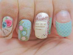 Vintage doilies nail wrap | chichicho~ nail art addicts