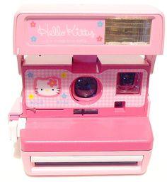 Wonderfully adorable Hello Kitty Polaroid Camera. #kawaii #hello #kitty #camera #Polaroid #pink