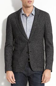 Armani Collezioni Micro Houndstooth Knit Blazer   Upscale Dandy Cut   Sweater blazer   Nordstrom