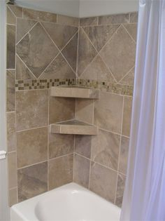 The tile work that we chose for the bathrooms at the lake house