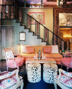 Living Room Photo - An abundance of patterns in a living space