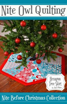 idea, skirt patterns, quilting patterns, quilt patterns, tree skirts, hexagon tree, simpli piec, christma, sewing patterns