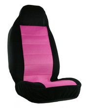 Pink and black car seat cover from CarDecor.com.
