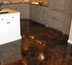 Acid Stained Concrete Floors with gloss finish