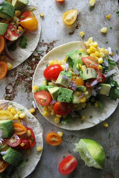 Fresh Corn and Squash Tacos