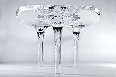 "Zaha Hadid - ""Liquid Glacial table"" (2012) Laminated acrylic resin"