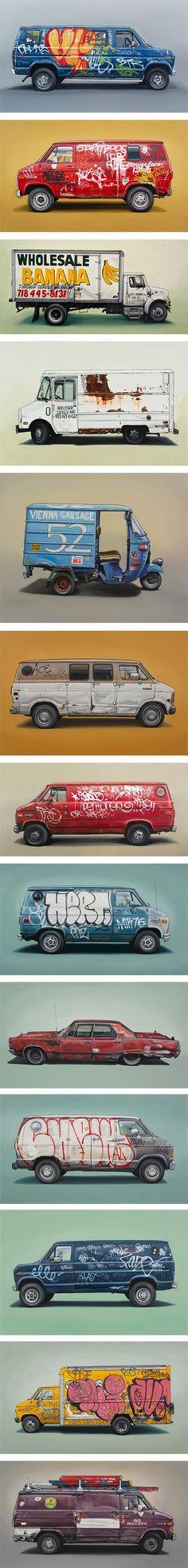 Furgonetas con graffiti