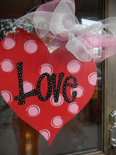 valentines door decor