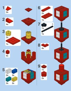 directions for making a lego dreidel