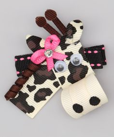 Look at this Cream Giraffe Clip on #zulily today!