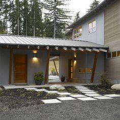 galvanized metal siding house photos - Google Search