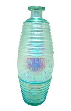 The Original Pocahontas bitters bottle (Y.Ferguson) is a rare bitters that always appears as aqua. This one is covered in a Benicia film