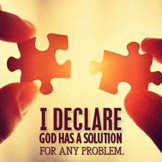 God has a solution.