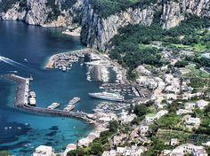 Capri Harbour from Anacapri (Italy)