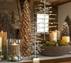 Faceted Jewel Tree | Pottery Barn holiday, tree, potteri barn, mantel, christma decor, natur, topiari, woodland christmas, pottery barn