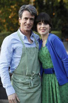 "Jess' (Zooey Deschanel) green dress from the ""Fancyman Part 1"" episode of NEW GIRL on FOX."