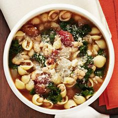 Pasta Fagioli Soup. So good! Perfect for the colder weather we are getting! Made 10/29/13