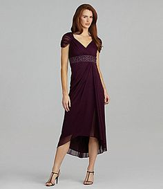 Alex Evenings Beaded Mesh Hi-Low Gown | Dillards.com...then there's this too.