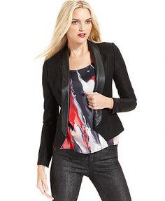 DKNY Jeans Jacket, Long-Sleeve Tuxedo Blazer - Womens Jackets