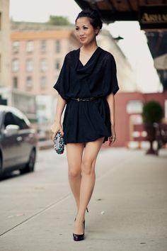 Not so simple, yet gorgeous little black dress