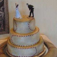 Baseball wedding cake! ⚾