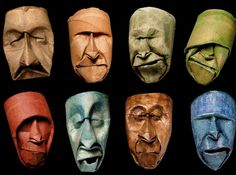 Artist Junior Fritz Jacquet carefully crushed empty toilet paper rolls into incredibly emotive face sculptures!