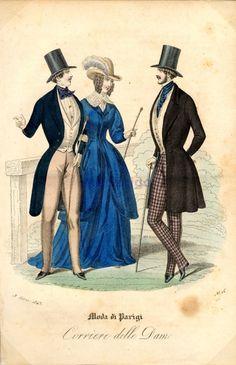 victorian flavour, ride habit, dell dame, dresses, 1843 itali, corrier dell, ride dress, italy