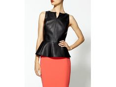 fashion, peplum tops, vegan leather, tinley road, pencil skirts, closet, fall trends, road vegan, leather peplum