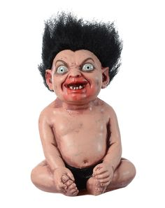 Troll Baby only at Spirit Halloween - Found under a bridge, Troll Baby is in desperate need of a home. Currently teething and a bit of a biter, this little guy is hungry for life (mainly yours) and loves playing with friends whenever time allows. Own yours for $32.99.
